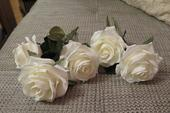 5 ks bílých růží,