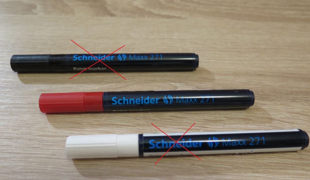 Červený e-mailový popisovač Schneider - Obrázek č. 1