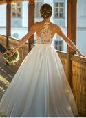 Luxusní krajkové svatební šaty Lanesta, 36
