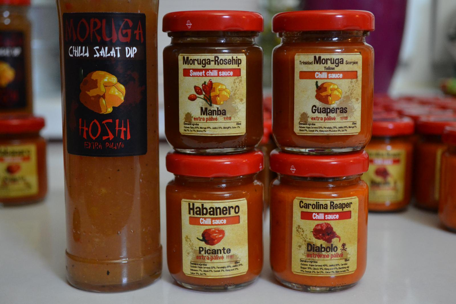 Domáce chilli omáčky Habanero, Moruga a Carolina Reaper - Obrázok č. 1