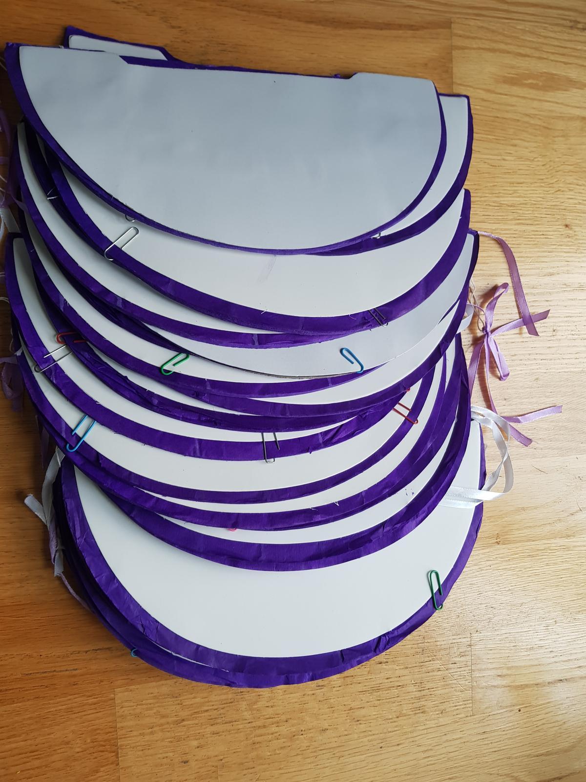 Honeycomb koule - fialová - Obrázek č. 2
