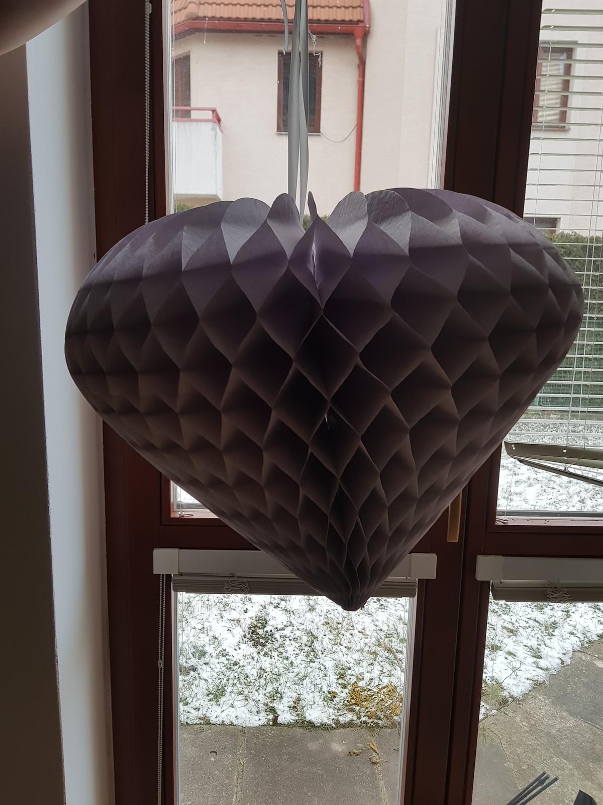 Honeycomb srdce velké - šedofialová - Obrázek č. 1