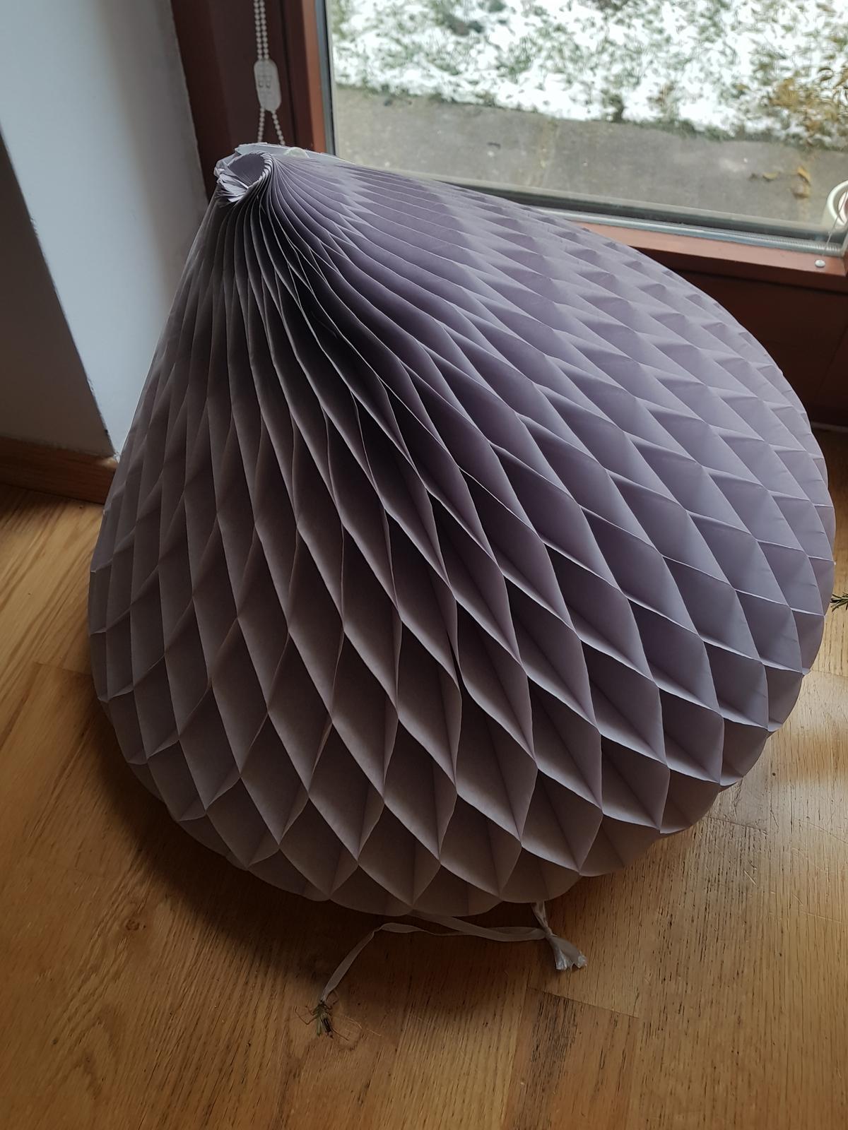 Honeycomb srdce velké - šedofialová - Obrázek č. 2