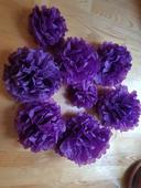 Pompom koule - fialová,