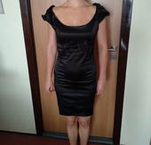 Saténové pouzdrové šaty, 36