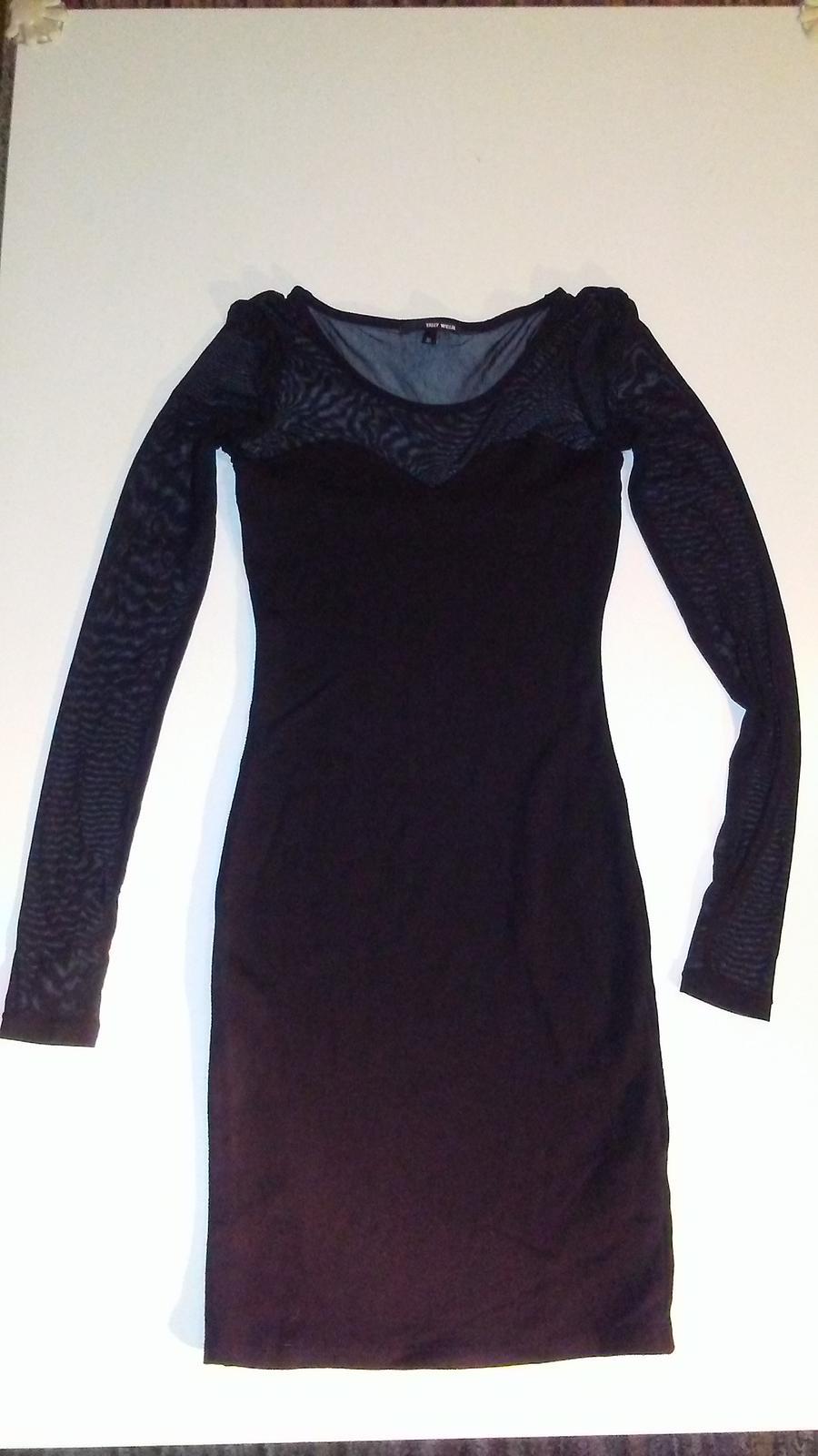 Černé šaty zn.Tally Weijl - Obrázek č. 1