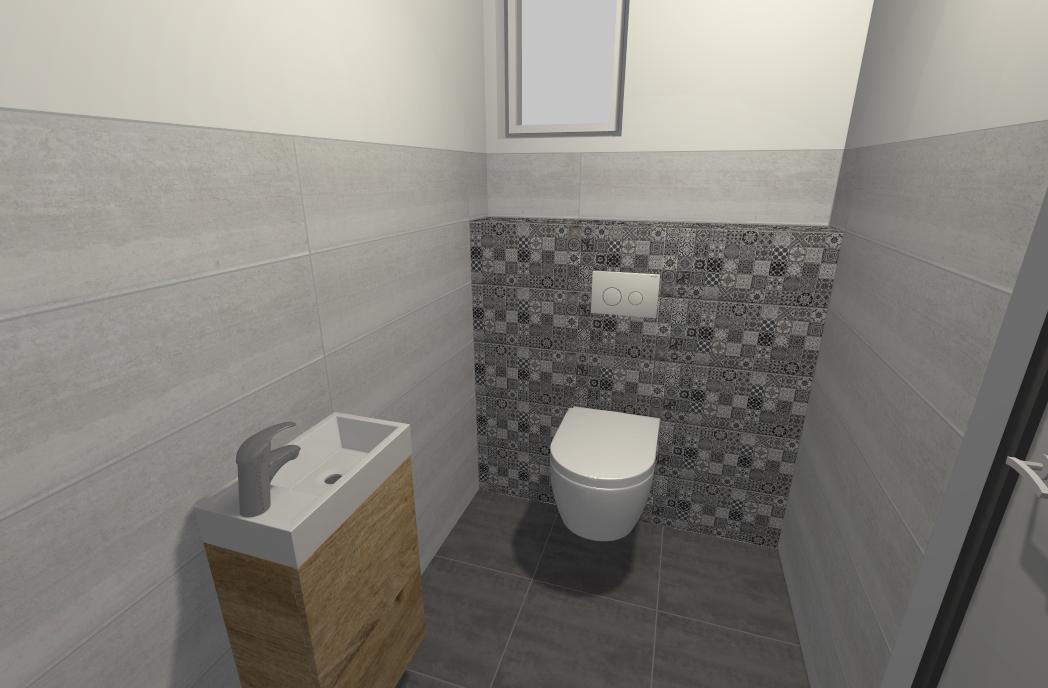 Náš vysnívaný domček :) - WC pri vstupe, vizualizacia hotova ...