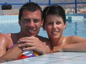 Naše společná fotka - dovolená na Krétě 2005