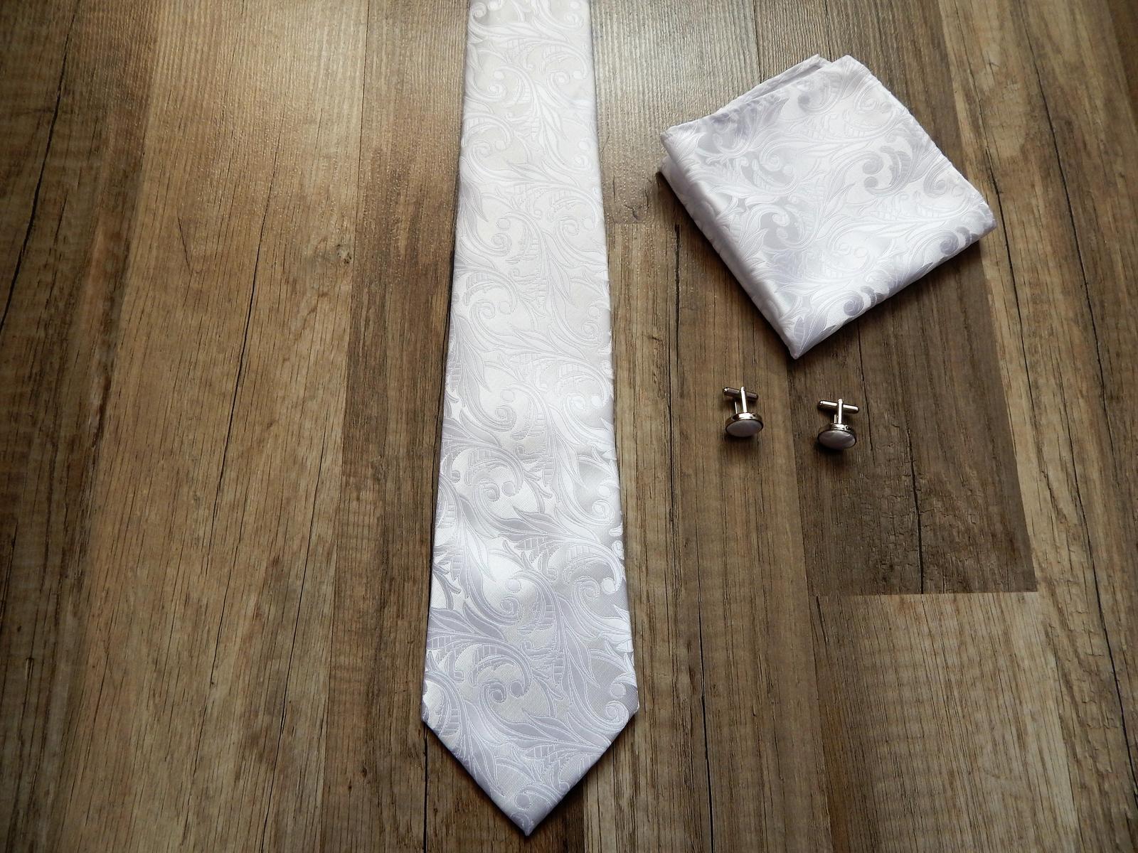 kravata biela - Obrázok č. 1