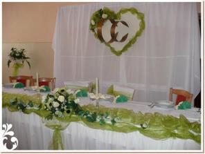 Takto nejako bude vyzerať náš hlavný stôl...
