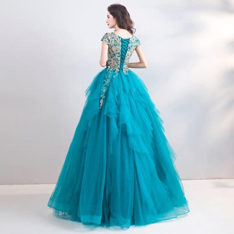 Spoločenské šaty 0557 - veľ. 34  - Obrázok č. 3