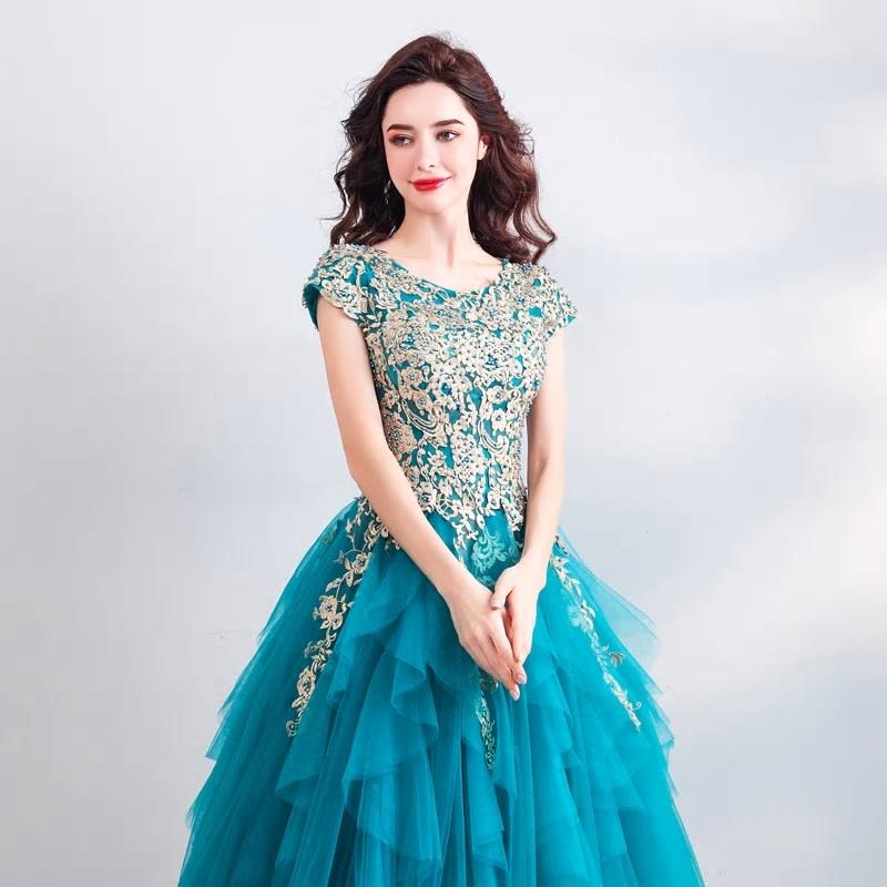 Spoločenské šaty 0557 - veľ. 34  - Obrázok č. 4