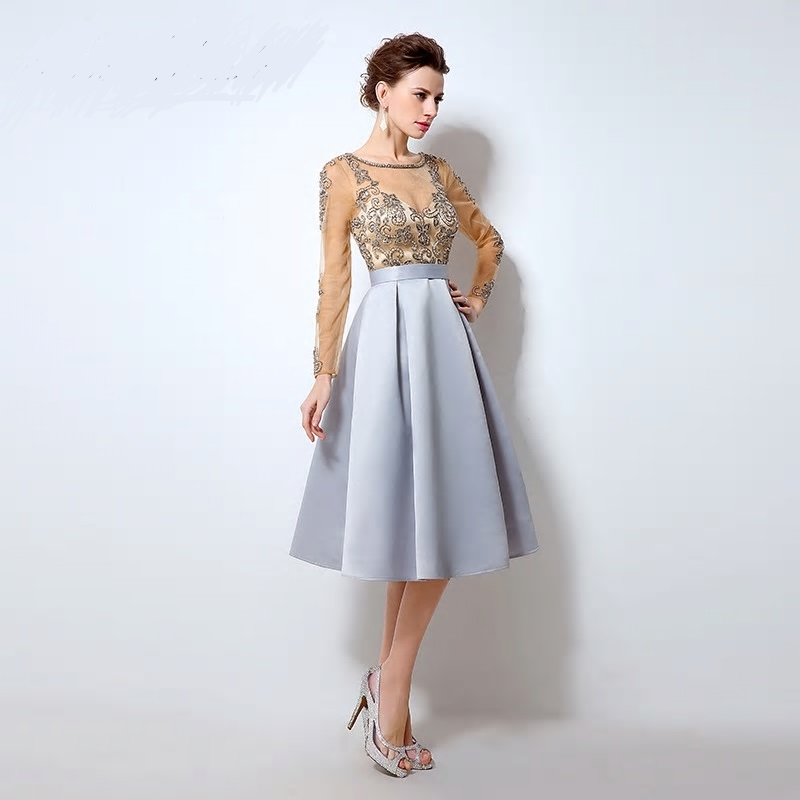Luxusné krátke spoločenské šaty  - Obrázok č. 4