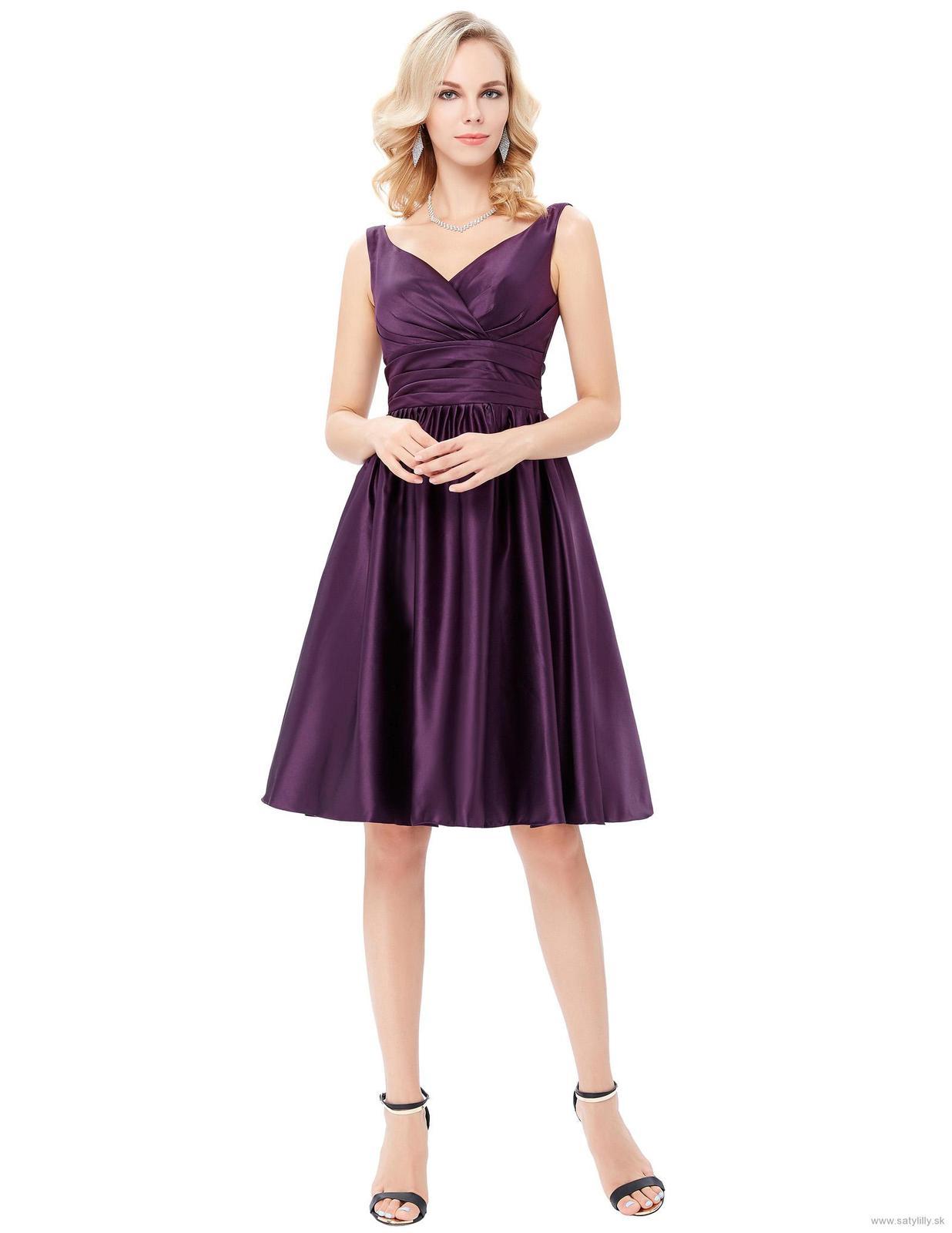 Krátke spoločenské šaty - veľ. 34 dodanie IHNEĎ - Obrázok č. 1