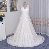 Rozprávkové svadobné šaty pre MOLETKY do 56, 54