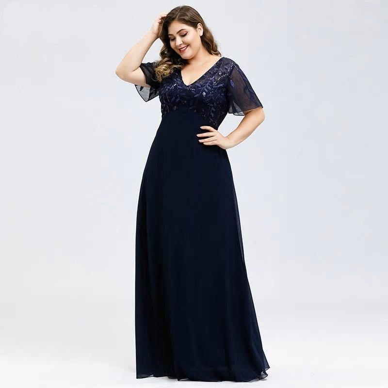 Dlhé spoločenské šaty do veľkosti 50 - Obrázok č. 3