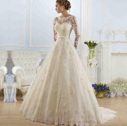 Svadobné šaty do veľkosti 48 - Obrázok č. 1
