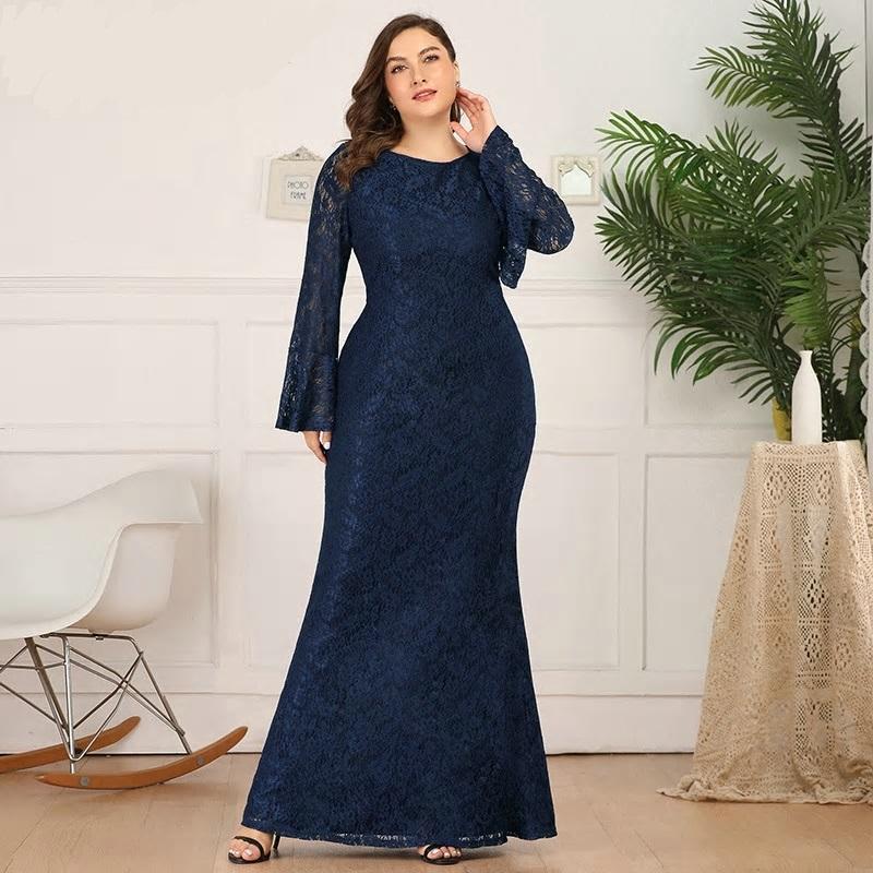 Dlhé spoločenské šaty do veľkosti 50 - Obrázok č. 4