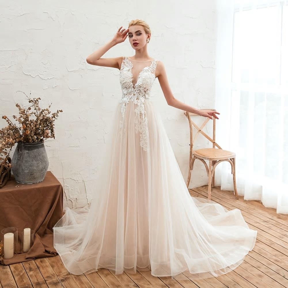 Svadobné šaty do veľksoti 56 - Obrázok č. 1