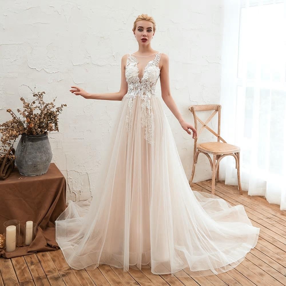 Svadobné šaty do veľksoti 56 - Obrázok č. 3