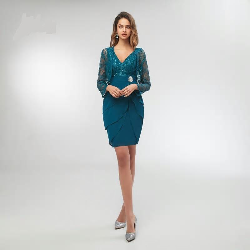 Krátke spoločenské šaty do veľkosti 56 - Obrázok č. 3