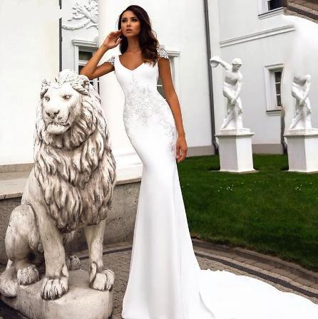 Svadobné šaty do veľkosti 50 - Obrázok č. 1