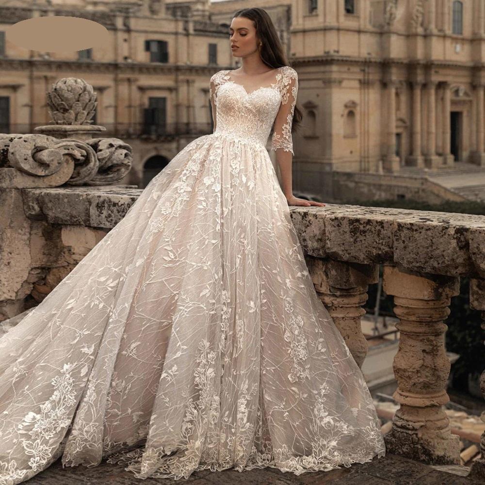 Luxusné svadobné šaty do veľ. 50 - Obrázok č. 1