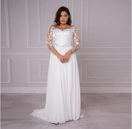 Svadobné šaty do veľkosti 56 - Obrázok č. 1