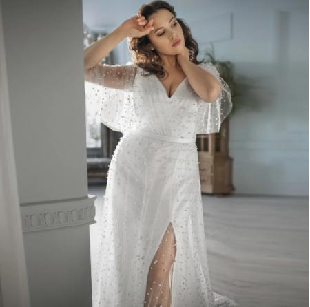 Luxusné svadobné šaty do veľ. 56 - Obrázok č. 2