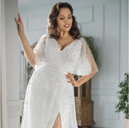 Luxusné svadobné šaty do veľ. 56 - Obrázok č. 3