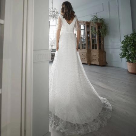 Luxusné svadobné šaty do veľ. 56 - Obrázok č. 4
