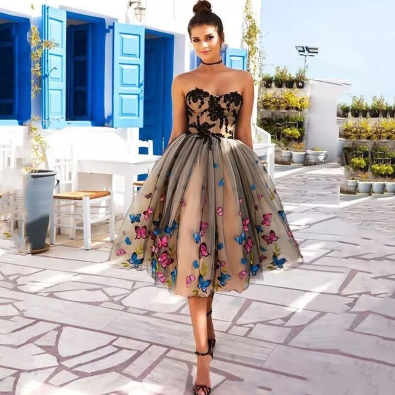 Krátke spoločenské šaty, veľ. 48 - IHNEĎ - Obrázok č. 1