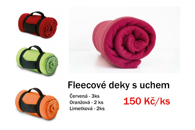 Fleesové deky s uchem - nové - Obrázek č. 1
