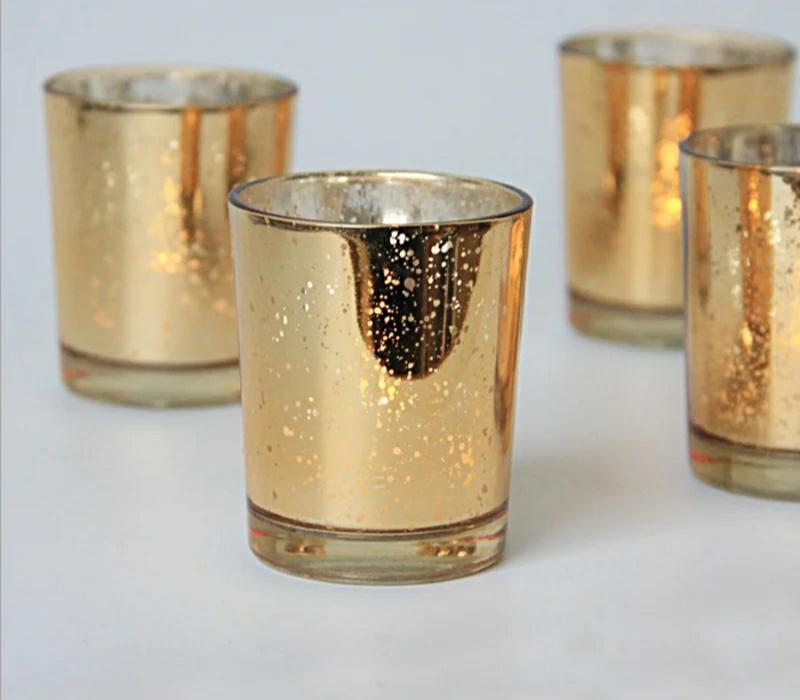 Predám zlaté svietniky na čajové sviečky. Nepoužité! - Obrázok č. 1