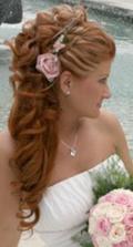 ...môj vysnívaný svadobný účes:o) -...bez ruže, s korunkou a závojom...