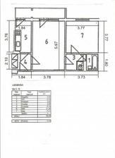 podorys 2-izb bytu