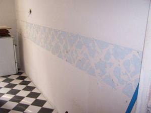 stena z povodnej kuchyne bez obkladov