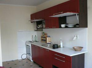 kuchyně před dokončením