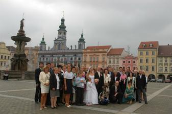 Společná fotka na náměstí