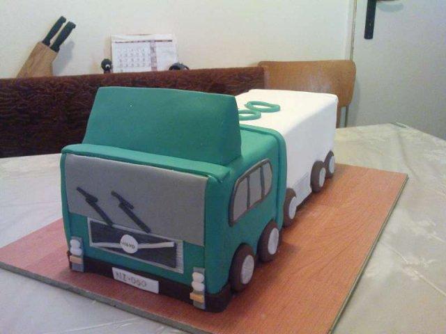 Linda & Jani - torta pre môjho kamionistu :) ako prekvapenie