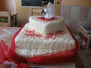 Náš svatební dort, dělala jsem si ho sama