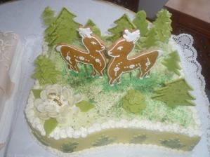 Krásna torta od Vieročky zo srnkami v lesíku nádhera