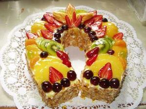 návrh na ovocný dort