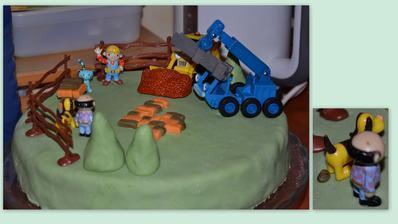 narozeninový bořkův dort od maminky a malý detail od tatínka