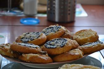 Kváskové koláče  - mák, povidla, ořechy a tvaroh