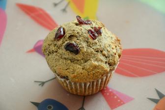 Pohankovo-brusinkové muffiny