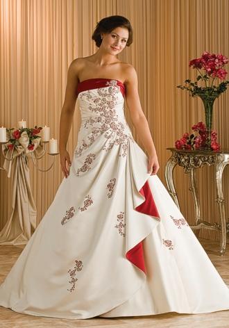 Svatební šaty - růžové i červené až do bordó - Obrázek č. 43