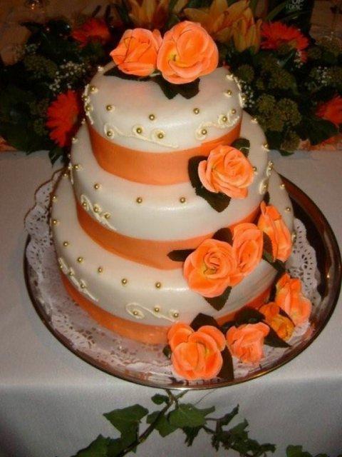 Jozefína{{_AND_}}Marek - svadobná torta