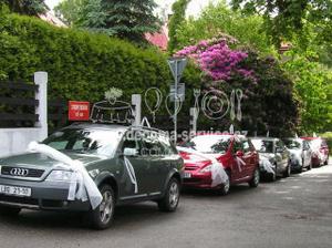 výzdoba aut svatebčanů - určitě bude :-)