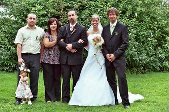 Manželovo bratr s přítelkyní a můj bratránek....Aleš
